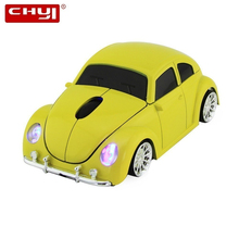 цена на CHYI Cute Wireless 3d Car Computer Mouse Mini Usb Optical VW Beetle Auto Mause Ergonomic Kid Gift PC Mice For Mac Laptop Desktop