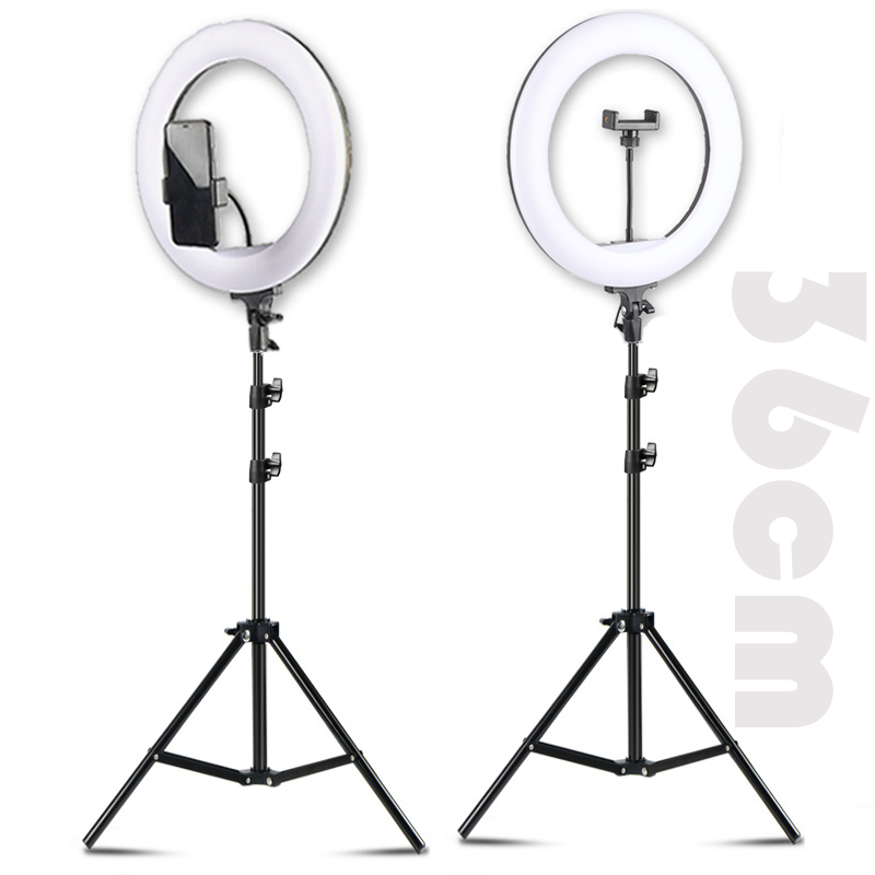 14 LED Selfie Ring Light Ring Lamp Makeup studio Photography lighting with Stand Tripod Annular Lamp for Video YouTube Photo image