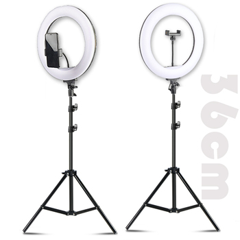 "14"" LED Selfie Ring Light Ring Lamp Makeup studio Photography lighting with Stand Tripod Annular Lamp for Video YouTube Photo"