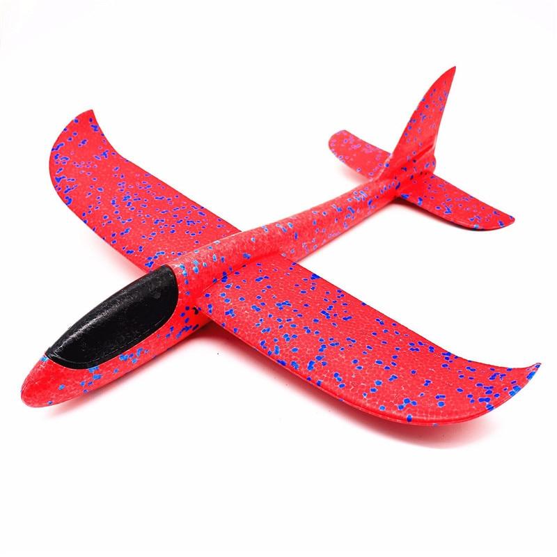 48 см большая рука бросок пены самолеты детские игрушки «сделай сам» Летающий планер модель аэроплана вечерние наполнители Летающий планер самолет игрушки для детей игры - Цвет: 48cm