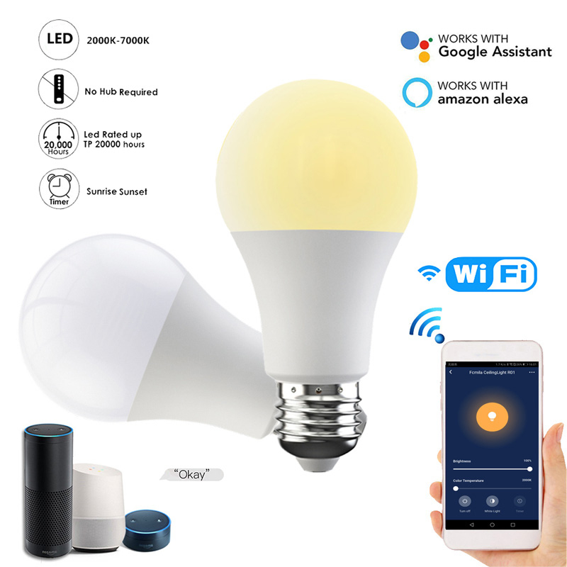New Smart Wifi Bulb Dimming Light Bulb Cold