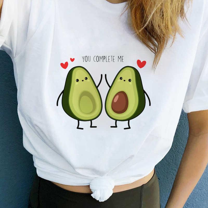 Lus Los 2019 avocat belle bande dessinée motif imprimé femmes t-shirt harajuku graphique t-shirt femme kawaii style