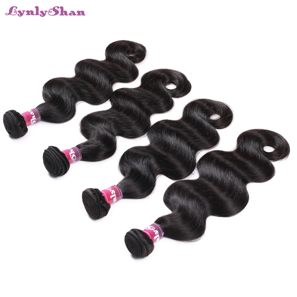 human hair four bundles