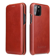 for iPhone 11 Pro Max Xs Max XR X 8 7 6s Plus Classical Fashion Genuine Leather Phone Flip Case Shell for Samsung S8 Plus Cover(China)
