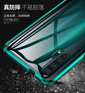 Image 4 - For Huawei P30 Pro Magnetic Case 360 double sided Tempered Glass Case Honor 20 Pro V20 8X Max V10 10 Lite 9X Plus Nova 5 4 4E 3