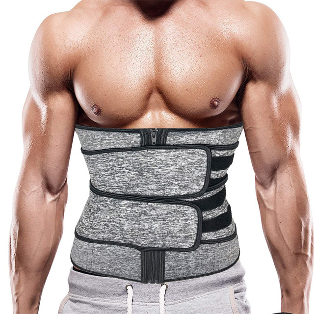 Men Upgraded Version Sweat Belt Waist Trainer Cincher Trimmer Neoprene Hourglass Slimming Body Shaper Band Workout Back Support