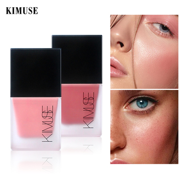 KIMUSE Face Liquid Blush Face Rouge Contour Makeup Long-lasting Matte Shimmer Natural Cheek Face Blusher Highlighter Cosmetics
