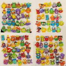 10-50 peças superzings originais figuras de ação 3cm super zings caminhão de lixo brinquedo lixo coleção brinquedos modelo