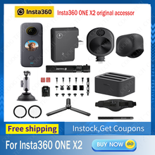 Insta360 ONE X2 original accessories Mic Adapter/Lens Guards /Lens Cap /Charge Hub /Bullet Time Cord /Utility Frame Accessories