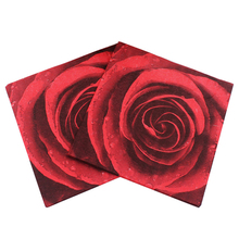 20 листов 33x33 см принт в виде красной розы салфетки одноразовые бумажные салфетки вечерние принадлежности на День святого Валентина