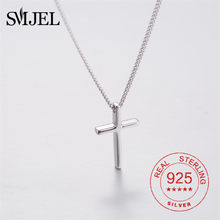 925 Sterling Silber Kruzifix Kreuz Anhänger Halskette Für Männer Frauen Exquisite Kreuz Silber Kette Schmuck Jesus Gebet
