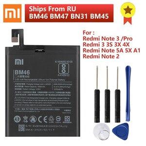 Image 1 - XIAOMI BM46 Phone Battery For Xiaomi Redmi Note 3 Note 3 Pro Redmi 3 3S 3X 4X 3 pro Note 2 Note 5A Mi 5X Mi A1 BM47 BN31 BM45