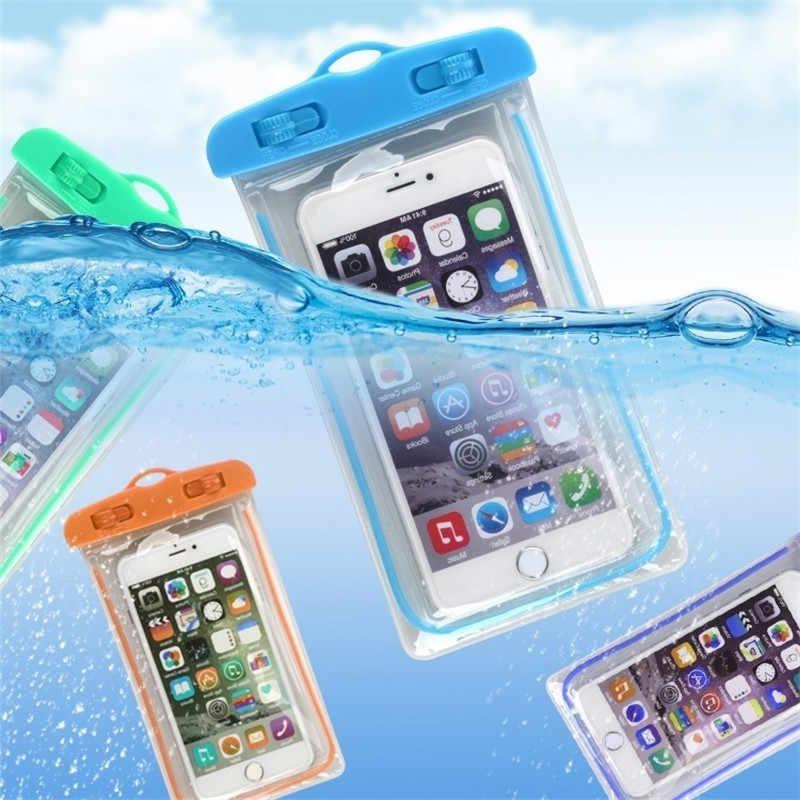 3.5-6 Inci Ponsel Tahan Air Kantong Drift Menyelam Renang Tas Luminous Bawah Air Kering Bag Case Penutup untuk Phone olahraga Kolam Renang