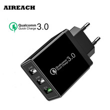 AIREACH 18 W Quick charge 3.0 5V 3A for Iphone8 EU US Plug Mobile Phone Fast charger charging for Xiao Mi MI9  Huawei Samsug S9 mi добавить eu plug