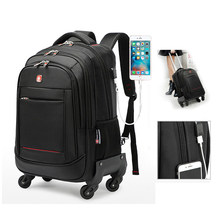Fabrikanten Nieuwe Stijl Direct Selling Business Travel Trolley Rugzak Mannen En Vrouwen Multi-functionele Rugzak Grote Volume 4 P(China)