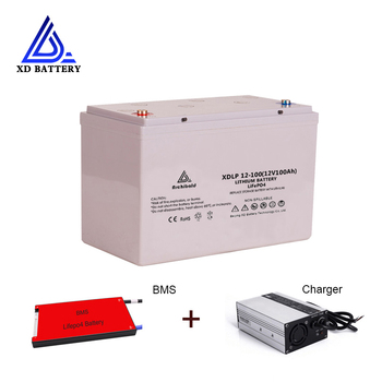 free customs taxes rechargeable lithium battery 24v 100ah lithium ion battery 24v 100ah 1000w li ion battery pack charger bms Battery Durable 12 Volt Lipo Deep Cycle Lithium ion iron Phosphate 12V 100AH  Pin Battery Pack