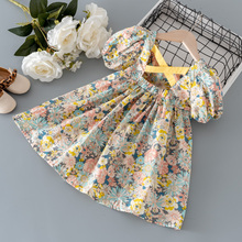 2021 Summer Baby Girl Dress Toddler Girls Clothes Print Floral Princess Birthday Dresses For Girls Clothing 1-6y Vestidos