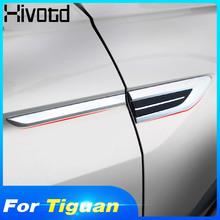 Histotd dla VW Tiguan 2019 2018 mk2 4motion 4motion 4X4 samochód oryginalny błotnik boczny drzwi godło naklejana etykieta wykończenia akcesoria tanie tanio Hivotd 1inch Chrom stylizacja ABS Plastic 0 15kg Door Waist line for VW Tiguan Second Generation 2016 2017 2018 2019 2020