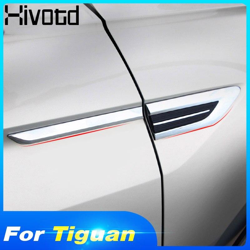 Hivotd para vw tiguan 2019 2018 mk2 4 motion 4x4 carro original asa lateral fender porta emblema adesivo guarnição acessórios