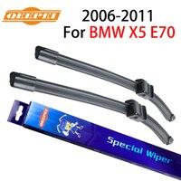QEEPEI ön ve arka silecek bıçak kolu için X5 E70 2006-2011 5 kapı SUV yüksek kaliteli doğal kauçuk ön cam