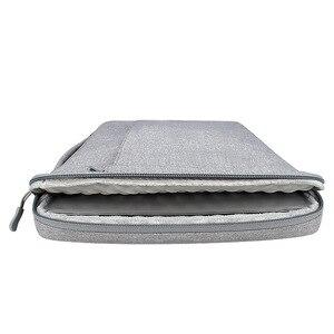 Image 4 - Ударопрочная сумка для ноутбука 13 14 15,6 дюйма, рукав для ноутбука MacBook Air Pro 13 Matebook 14, женская и мужская однотонная сумка для ноутбука