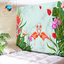 Boho Wall Tapestry Plant Flowers Decoration Hanging Indian Mandala Flamingo Picture Art Cloth Home Dorm Decor