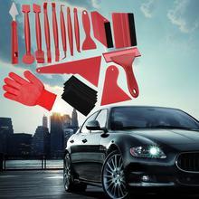 Ferramentas do carro de fibra carbono filme envoltório vinil adesivo embrulho folha ferramenta kit matiz janela raspador instalação magnético rodo automático y3w1