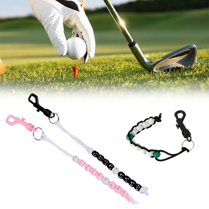 Plastic Golf Bead Stroke Counter Braid Cord Score Count With Clip Counter FK88