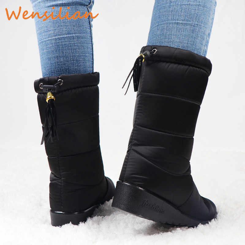 Frauen Winter Stiefel 2019 frauen Winter Schuhe Hohe Stiefel Botines Botas Mujer Unten Stiefel Weibliche Wasserdichte Damen Schnee Booties