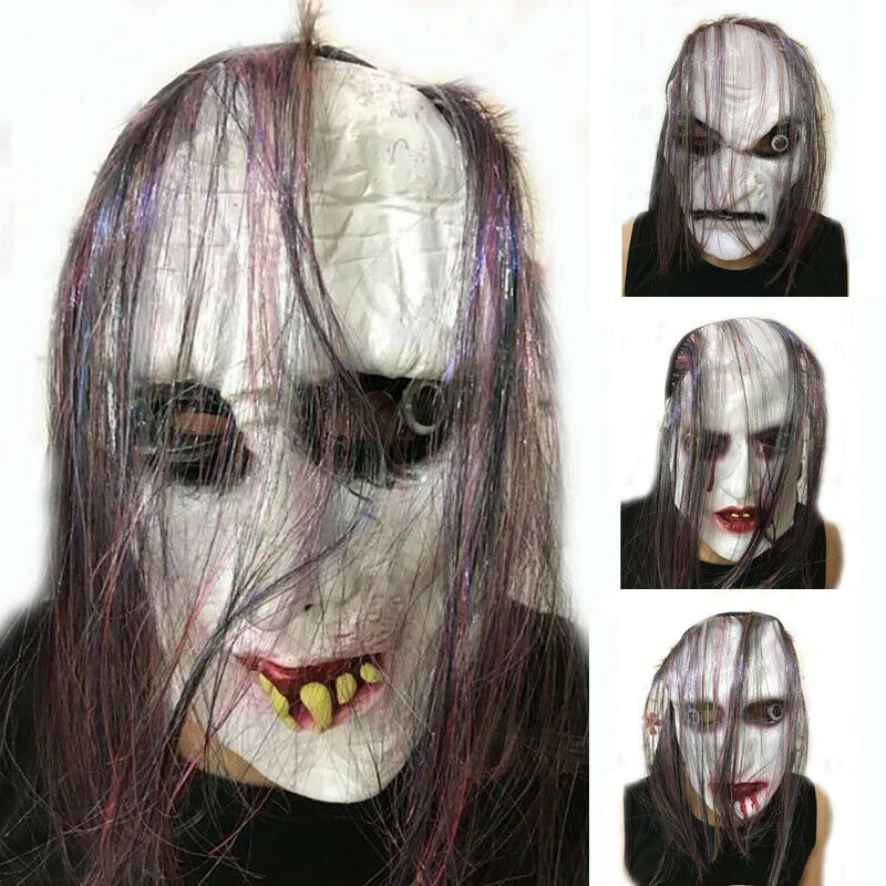 Horror Mask Fancy Dress Halloween Scary Mens Ladies Womens Men Adults Costume Masks