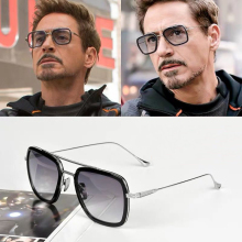 Tony Stark Sunglasses Man Flight Iron Spiderman Far From Home Glasses Movie 2019 Peter Parker Square Avengers