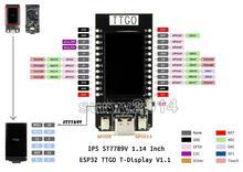 T ekran ESP32 WiFi ve Bluetooth modülü Arduino için geliştirme kurulu 1.14 inç LCD kontrol panosu