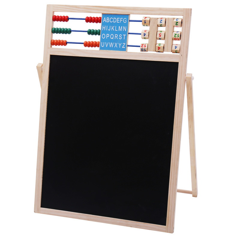 Early Childhood Educational WordPad Double-Sided Desktop Sketchpad Children Magnetic Lettered Numbers Stick Drawing Board Hot Sa