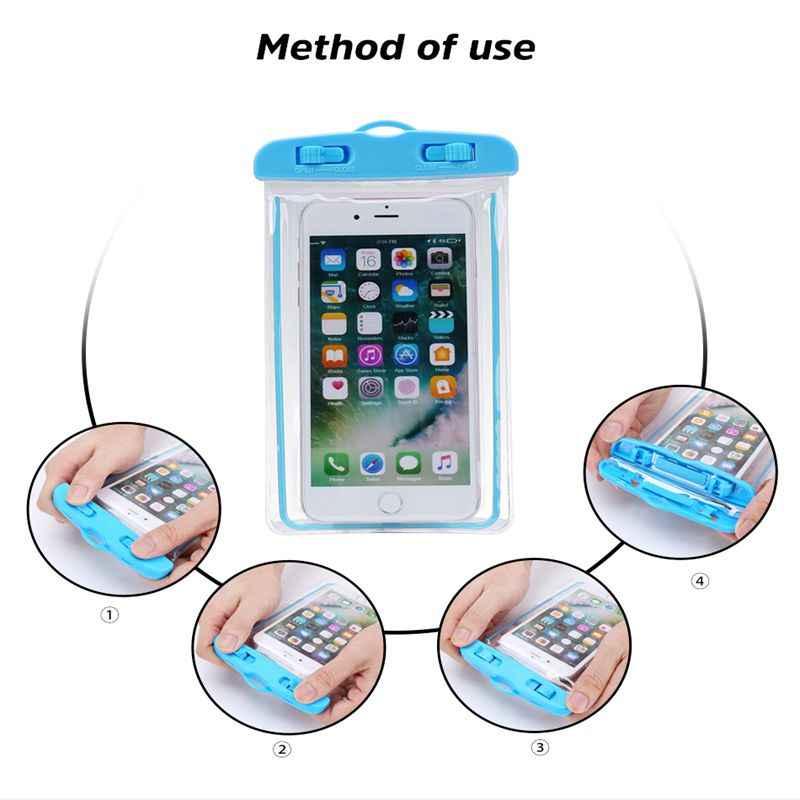 מקרה עמיד למים אוניברסלי עבור iPhone 11 X XS מקסימום 8 7 6 s 5 בתוספת כיסוי פאוץ תיק מקרי טלפון Coque מים הוכחת טלפון מקרה