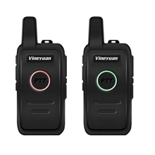 Buy Vineyuan Q1 Mini Walkie Talkie UHF 400-470 mhz Frequency Portable Handheld Radio Scanner Comunicador Two-Way Ham CB Radio directly from merchant!