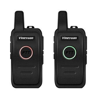 цена на Vineyuan Q1 Mini Walkie Talkie UHF 400-470 mhz Frequency Portable Handheld Radio Scanner Comunicador Two-Way Ham CB Radio