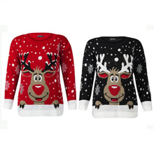 Plus Size 4xl Jumper Snowman Deer Sweaters New Santa Claus Xmas Patterned Ugly Christmas Tops For Men Women Pullovers