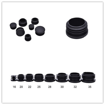 10Pcs Plastic Pipe End Blanking Caps Bung Tube Insert Plugs Round Lid Diameter 16mm, 20mm, 22mm, 25mm, 28mm, 30mm, 32mm, 35mm - discount item  20% OFF Furniture Accessories