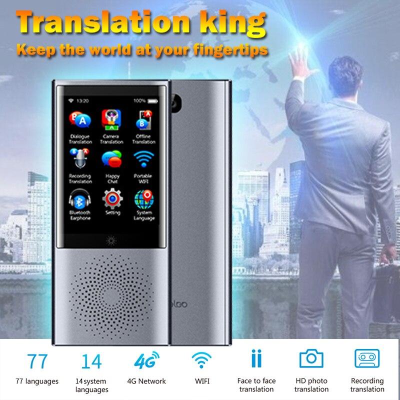 Boeleo smart AI traducteur global voix instantanée portable vidro bateria multi langues multilingue de voyage de voz simultaneo