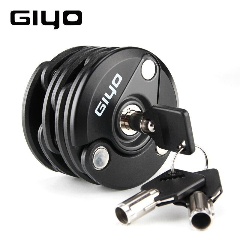GIYO Universa robuste Anti-vol sécurité en alliage de Zinc moto vélo pliant serrure chaîne cadenas avec 3 clés