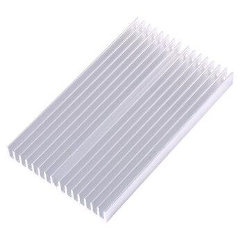 100X60X10 мм кулер DIY Алюминиевая решетка форма теплоотвод чип для IC светодиодный транзисторный модуль радиатора специальное охлаждение