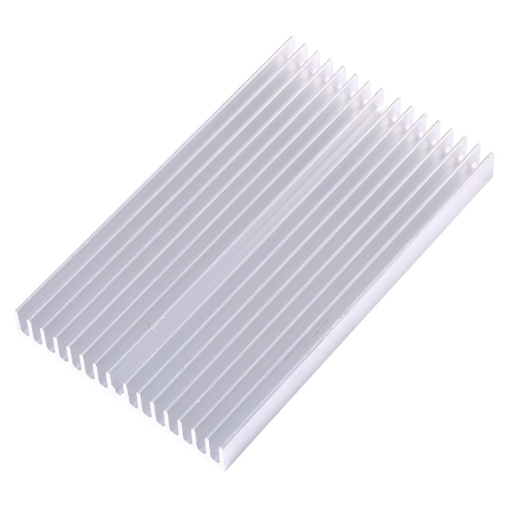 100X60X10mm bricolage refroidisseur en aluminium Grille forme dissipateur de chaleur puce pour IC alimentation LED Transistor radiateur Module radiateur refroidissement spécial
