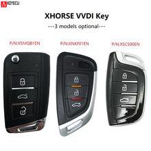 KEYECU XHORSE (angielska wersja) uniwersalny inteligentny takich atrakcji, jak pilot z kluczykiem samochodowym dla narzędzie VVDI, VVDI Mini kluczyk narzędzie VVDI2
