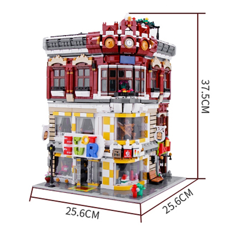 Toys and book store street toy kids' diy Children Model toy building block toys building blocks Kid's Gift