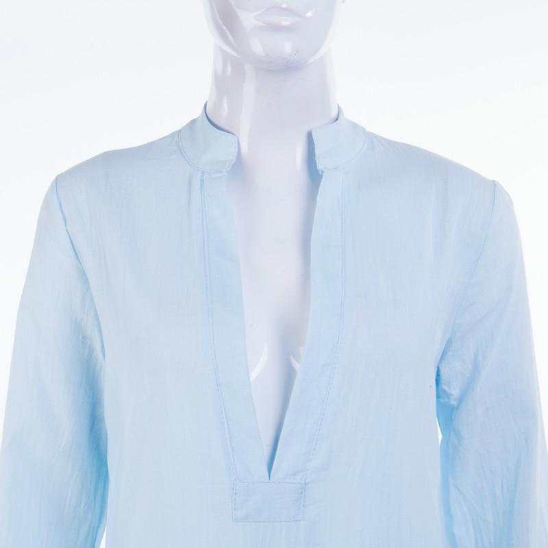 Women Gypsy Dresses Robe Long Sleeve V-neck Ethnic Boho Cotton Linen Summer Beach Maxi Dress 9