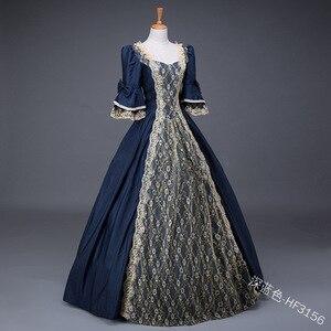 Королевское дамское средневековое бальное платье в стиле ренессанс, викторианское бальное платье цвета шампанского, Маскарадные костюмы королевы, бальные платья, костюм на Хэллоуин