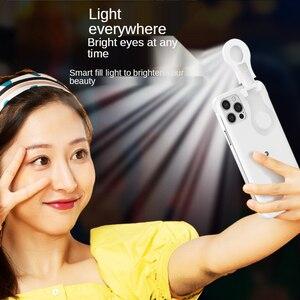 Image 3 - ل فون 12 11 حلقة ضوء حالة مع فلاش Led ملء ضوء ل بالرصاص الأزياء Selfie حالة ل IPhone11 12 برو ماكس Xs Xr Ringlight