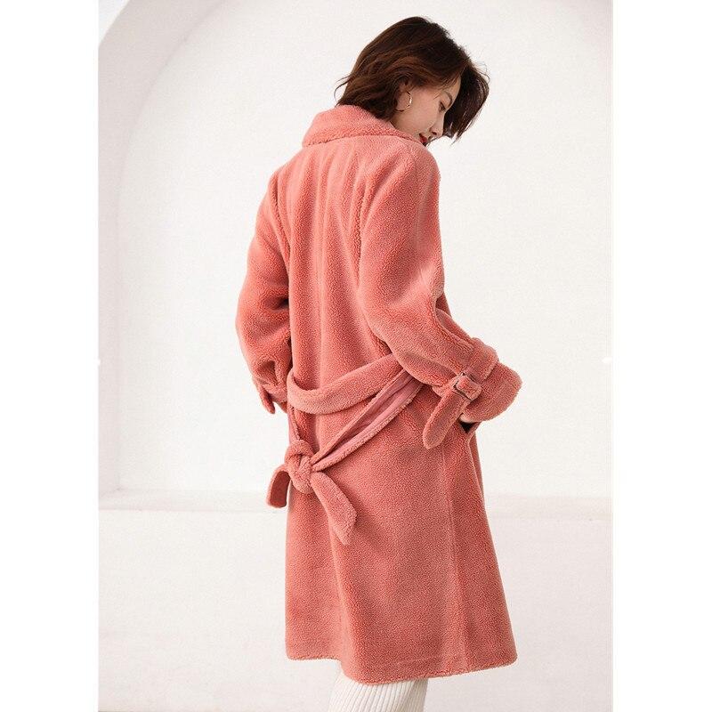 JESPER Womens Winter Faux Fur Jacket Parka Hooded Long Sleeves Shearling Coat Overcoat