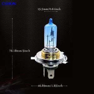 Image 3 - 4 шт. галогенная лампа H4 12V 100/90W 5000K Ксеноновые темно синие стеклянные лампы для автомобильных фар супер белый