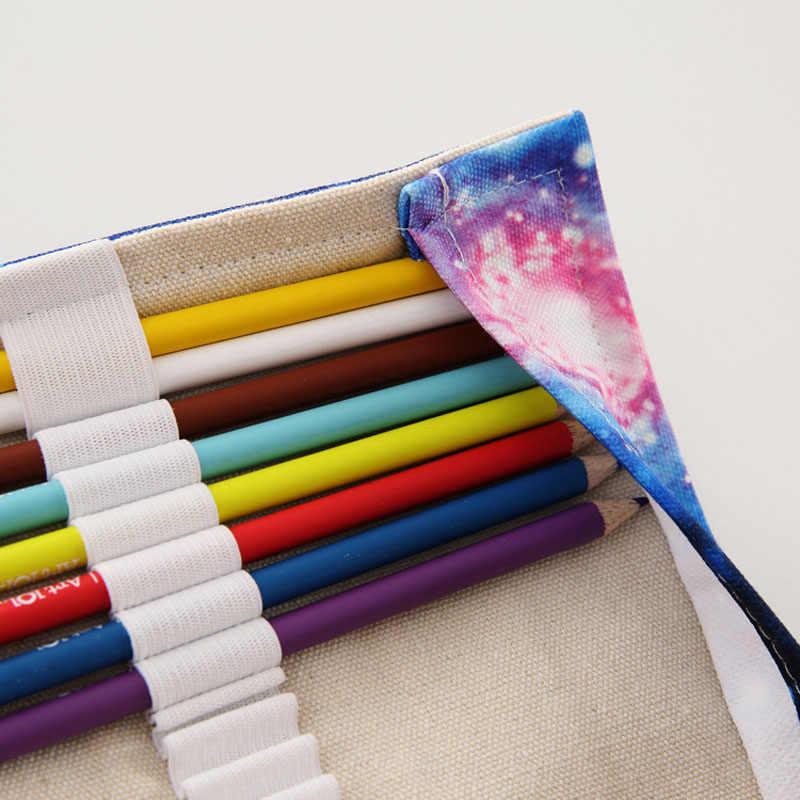 ใหม่ 36/48/72 หลุม Protection Canvas ดินสอห่อดินสอสเตชันเนอรีกระเป๋าอุปกรณ์